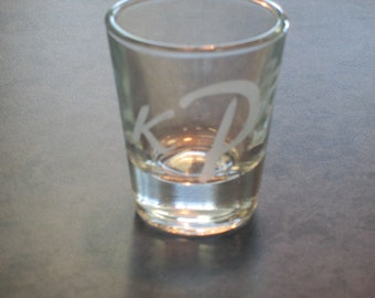 Personalized Etched Glass Shot Glass