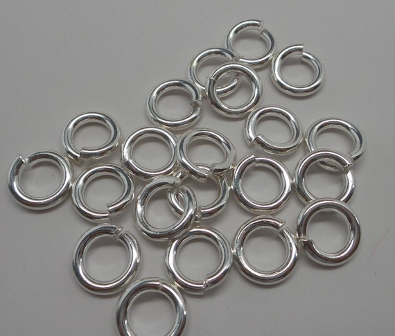 925 solid sterling silver jump rings open 11 mm handmade