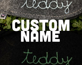 Custom Name on your Natural Wool Felt Product
