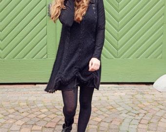 Knit dress from kid-Seta with Jersey dress Gr.M Black