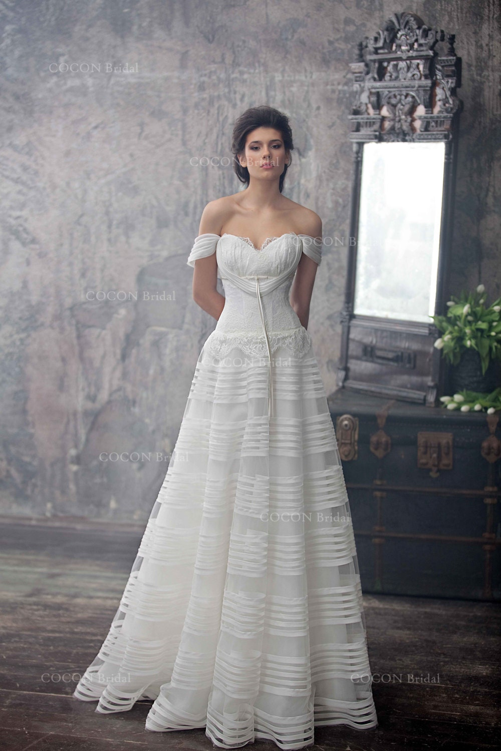 Haute couture wedding dress romantic wedding gown from silk for Haute couture wedding dresses