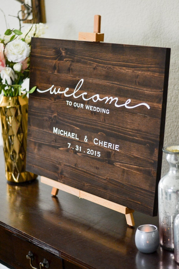 Welcome Wedding Sign Names Amp Date Reception By LoveSupplyCo