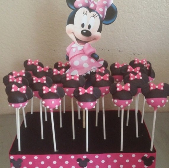 minnie mouse cake pops 12 minnie mouse theme cake pops 5943
