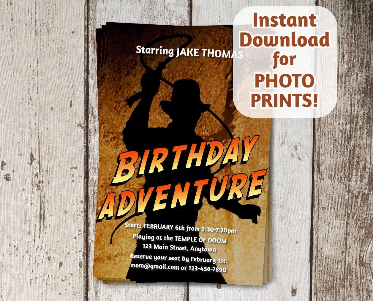 Indiana Jones Birthday Invitations Pictures To Pin On Pinterest