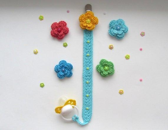 Crochet Pacifier Holder PATTERN-Baby Pacifier Holder-Instant