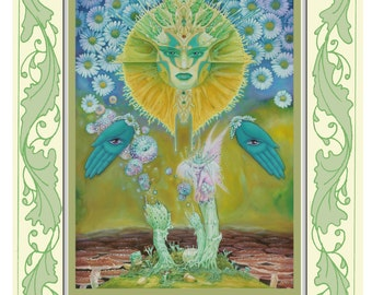 Fantasy print from original artwork titled 'Symbiosis'