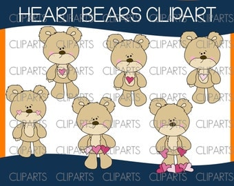 Heart bears clipart