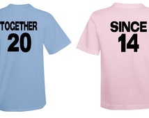 Together Since 2014 Couples Shits Tshirt T Shirt Tee Shirt T Shirt Mens Ladies