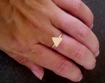 SALE! Delicate ring, Minimal ring, Gold ring,Triangle Ring,Cute ring,Dainty ring,Simple ring
