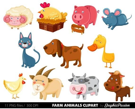 50 OFF Premium Farm Animals Clip Art Vectors