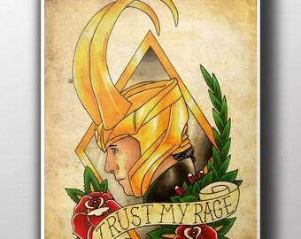 Loki Tattoo Parlour Poster Print