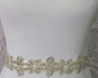 SALE -Sparking sash -Wedding Sash - Bridal belt - bridal sash - bridal rhinestone sash - bridal rhinestone belt