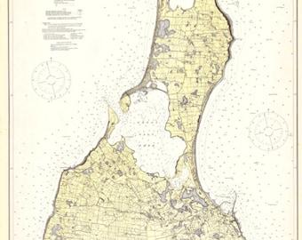 Block Island Map - 1914