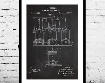 Brewing Beer Patent, Brewing Beer Poster, Brewing Beer Print, Brewing Beer Ale Decor, Beer Poster, Beer and Ale Decor p115