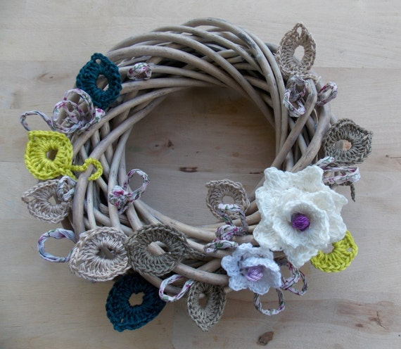 Kitchen Decoration With Waste Material: Items Similar To Natural Materials Wreath Country Cottage