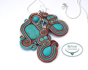 "Soutache Jewelery Set ""Dreamland"""