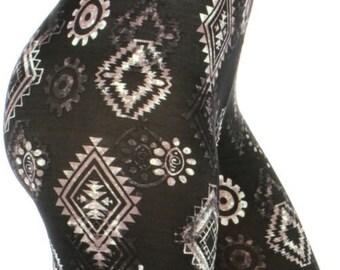Black Diamond Print Leggings