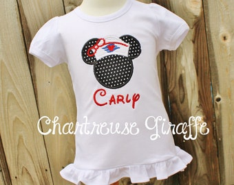 Sailor Minnie Mouse inspired personalized shirt. Disney Cruise Minnie shirt. Disney trip shirt.