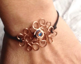 copper lace bracelet