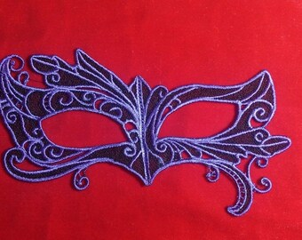 Custom Embroidered Lace Masquerade Mask