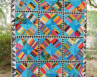 Turquoise Liberated Rings Quilt