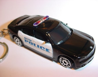 3D Dodge Charger METRO POLICE custom keychain by Brian Thornton keyring key chain 911