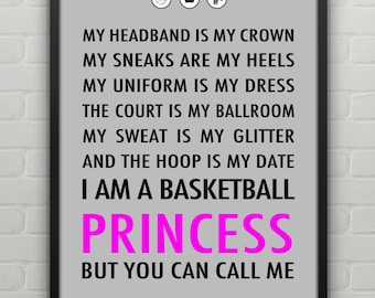Basketball Princess Poster Personalized
