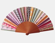 Prime Patchwork Hand Fan