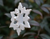 "Porcelain Snowflake Ornament in ""3-D"""