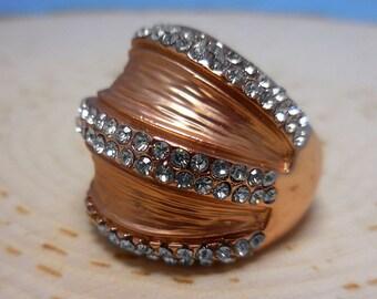 Rose Gold Swarovski Crystal Ring