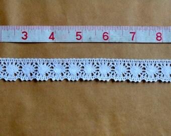 White crochet lace.