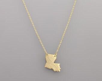 Gold Louisiana Necklace