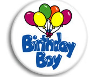 Birthday Boy Pinback Buttons