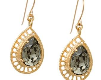 Bridesmaid Gift - Bridesmaid Jewelry - Bridesmaid Earrings - Bridesmaid Dangle Earrings - Elizabeth - handmade Jewelry