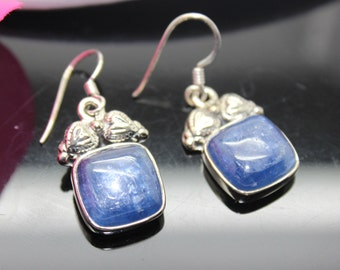 Kyanite Earrings, Sterling Silver Earrings, Gemstone Earrings