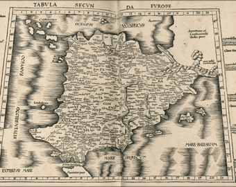 24x36 Poster; Ptolemy Map Of Spain 2Nd Century