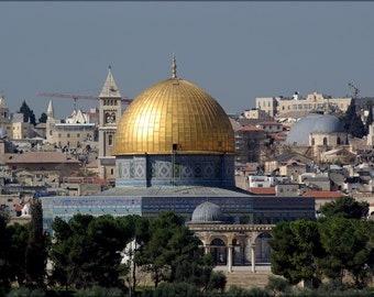 24x36 Poster; Jerusalem Israel, Dome Of The Rock