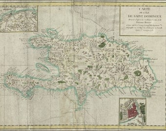 24x36 Poster; Map Of Hispaniola 1780