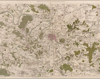 24x36 Poster; Map Of Paris France 1756