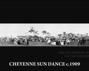 24x36 Poster; Cheyenne Sun Dancer C1909