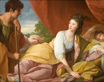24x36 Poster; Benjamin West - Cymon And Iphigenia