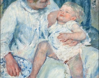 24x36 Poster; Mary Cassatt   Mother About To Wash Her Sleepy Child     #031215
