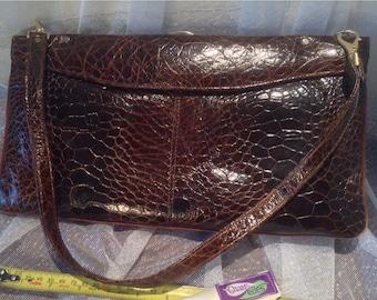 Faux? turtleskin handbag Excellent condition
