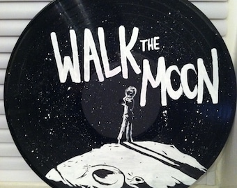 Walk the Moon Album Art Custom Painting on Vinyl Record - The Other Sides, B-Sides & Rarities