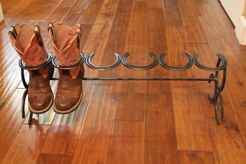horseshoe boot rack boot rack custom boot by