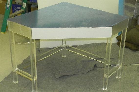 Acrylic Corner Desk Lucite / Acrylic Corner Desk