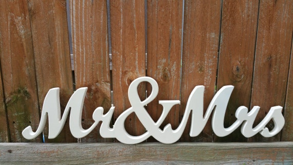 Items Similar To Mr & Mrs Wall Letters On Etsy
