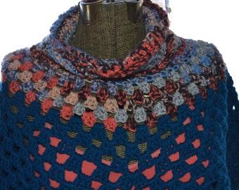 The Gorgeous : Handmade Crochet Poncho Shawl