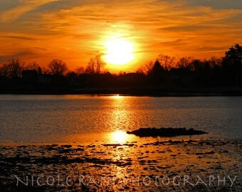 Sunset Over Cove Island - Landscape Photography - Stamford, CT