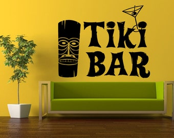 Tiki bar wall decal   Etsy